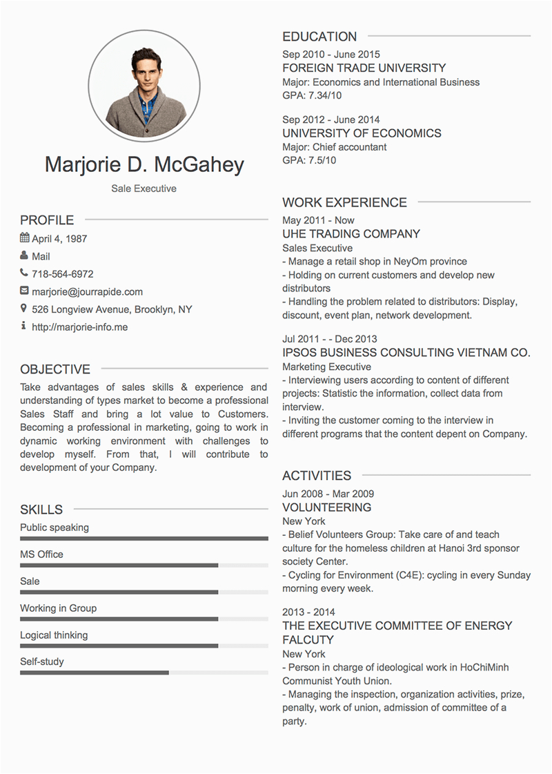about me in resume examples 24