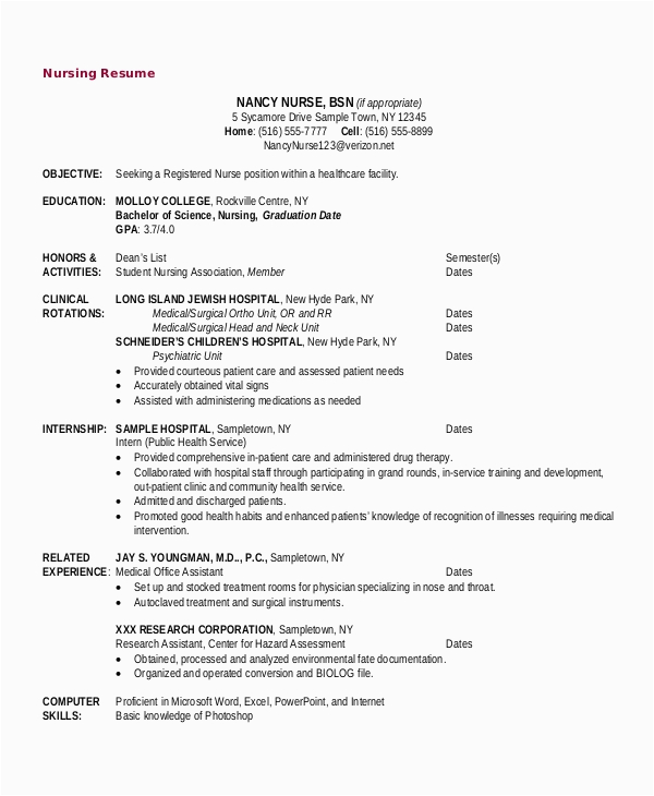 Sample Of Objectives In Resume for Nurses Free 10 Sample Objective for Resume Templates In Ms Word