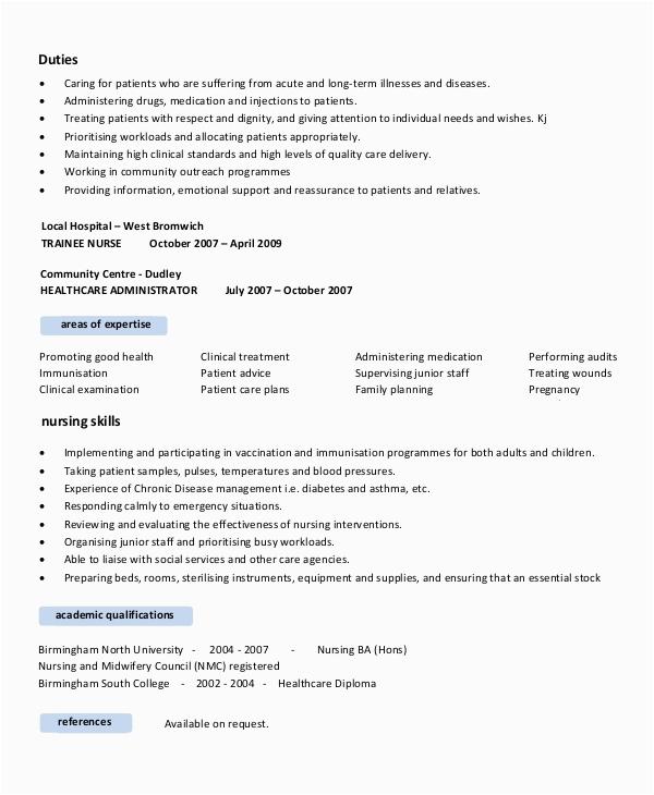 nursing resume objective