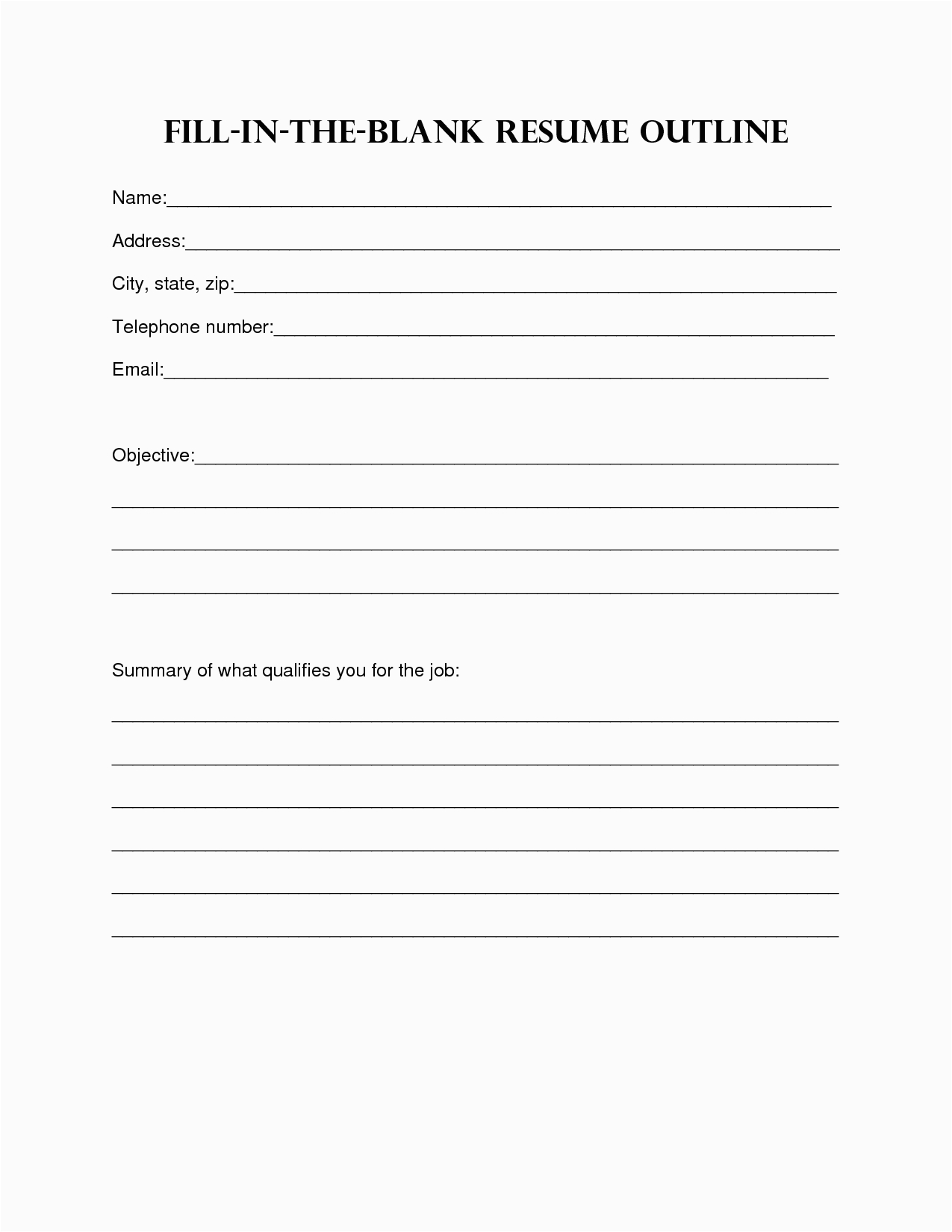 post simple resume worksheet