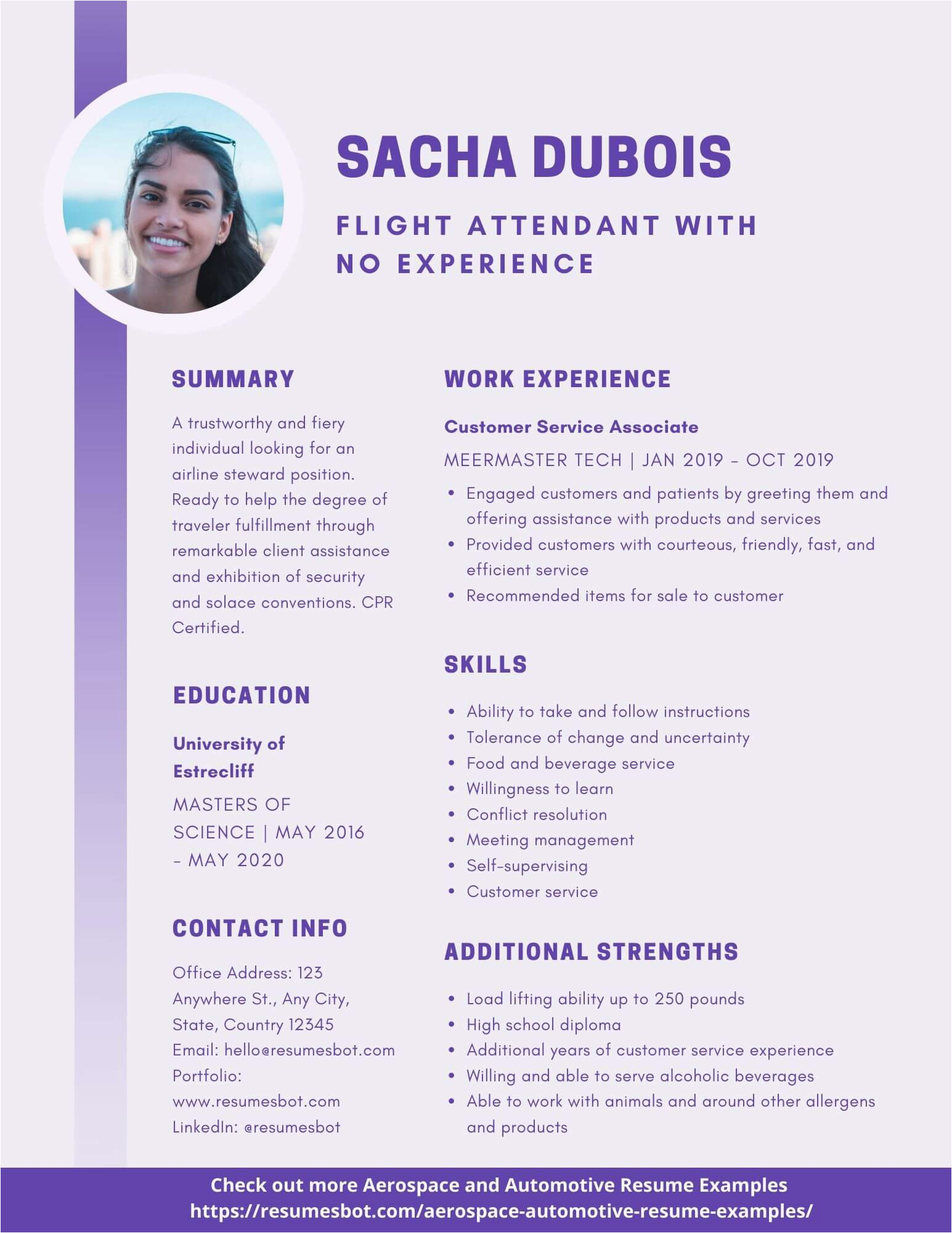 Sample Resume Flight attendant No Experience Flight attendant with No Experience Resume Samples and