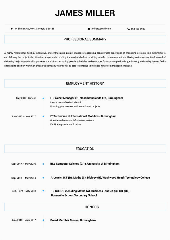 12th pass student student resume format