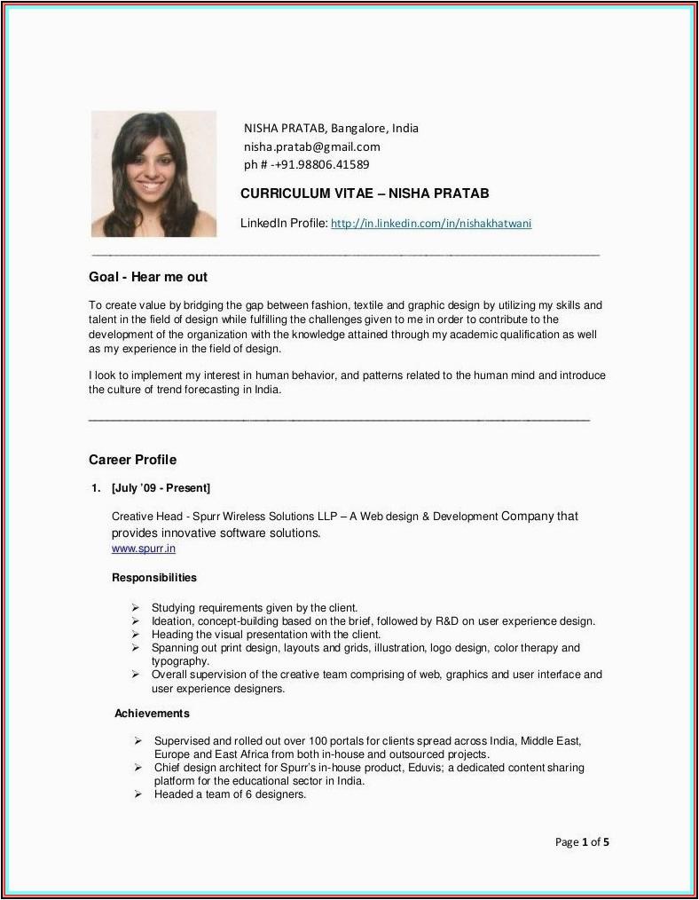 simple resume samples for fresher air hostess