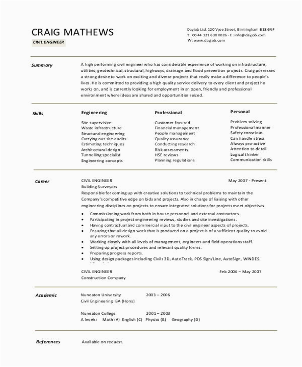 simple fresher resume template