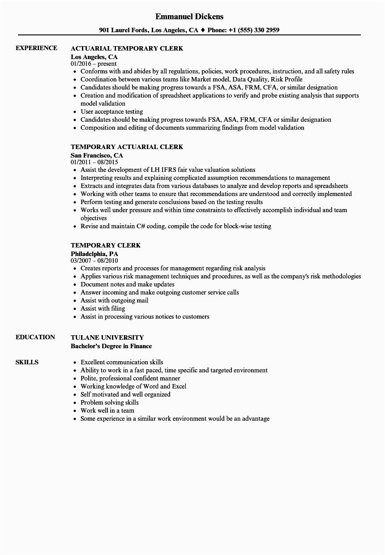 11 12 office clerk resume no experience