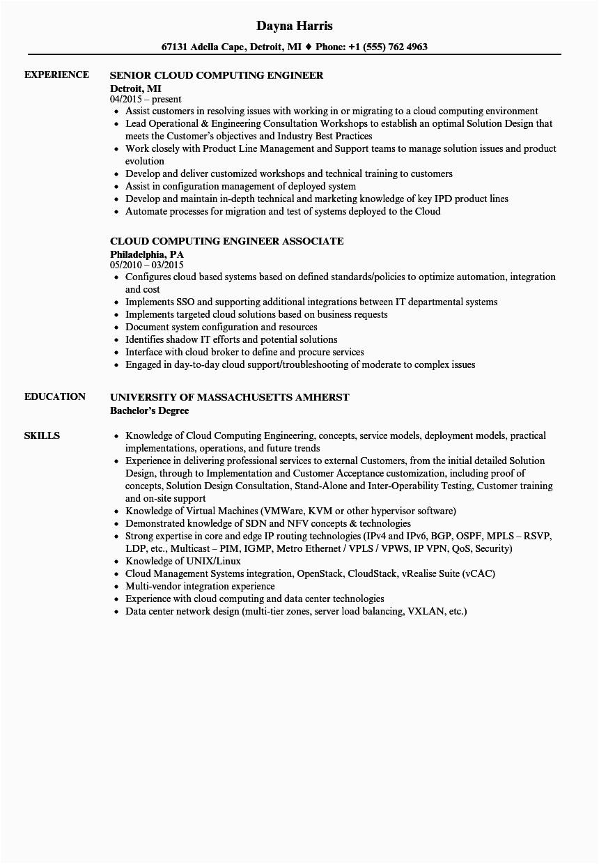 aws cloud engineer resume