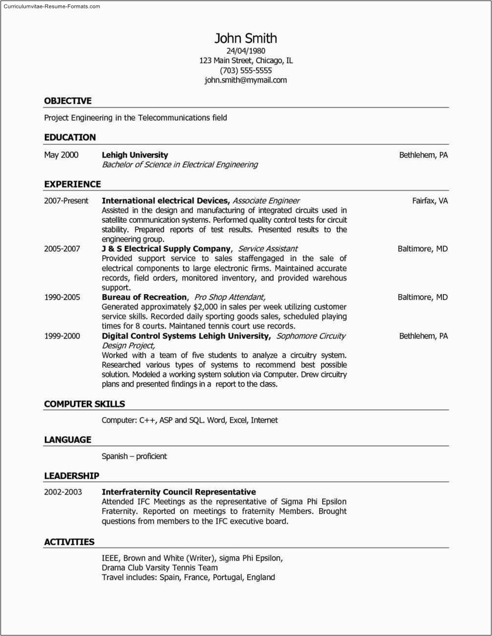 customer service resume template free