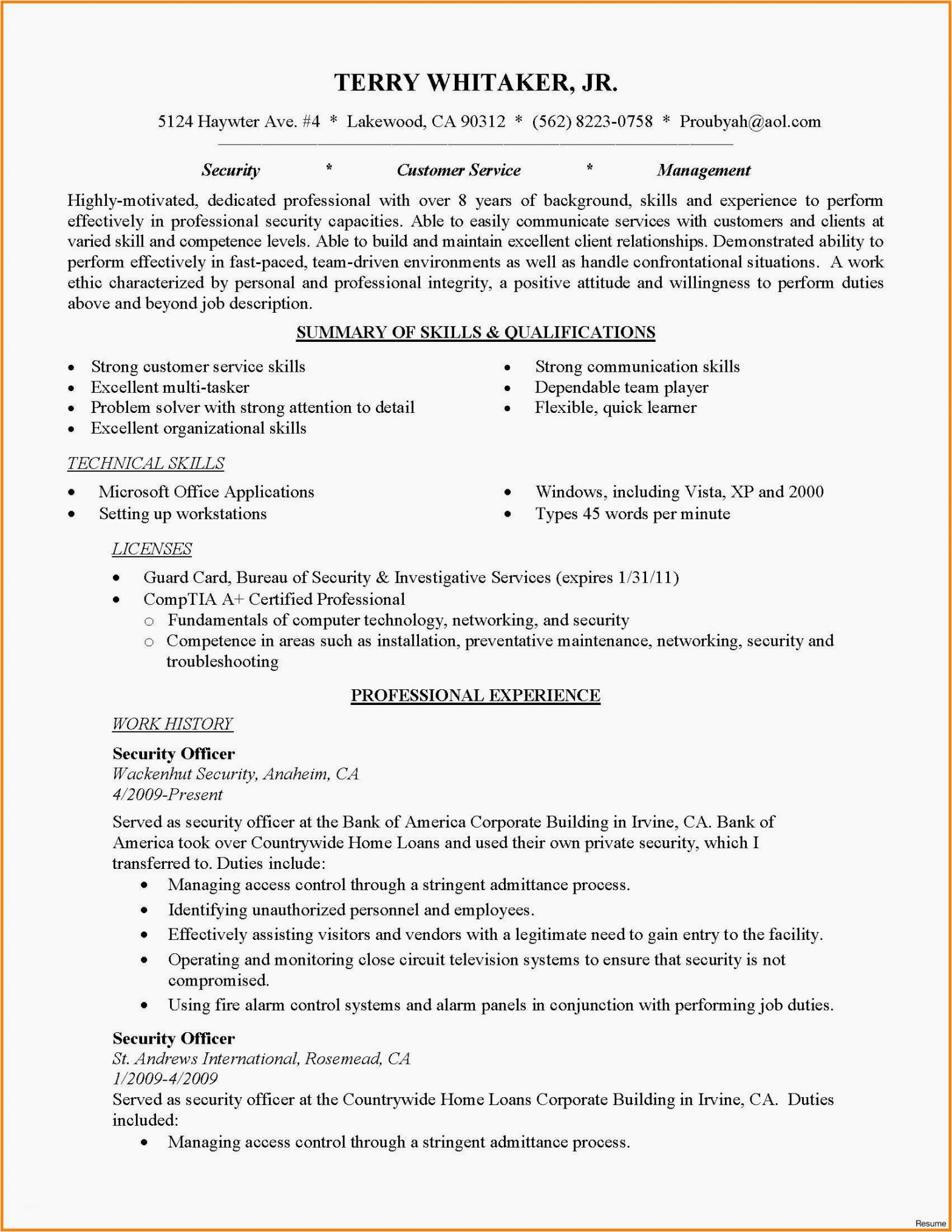 Sample Resume for Entry Level Cyber Security Entry Level Cyber Security Resume