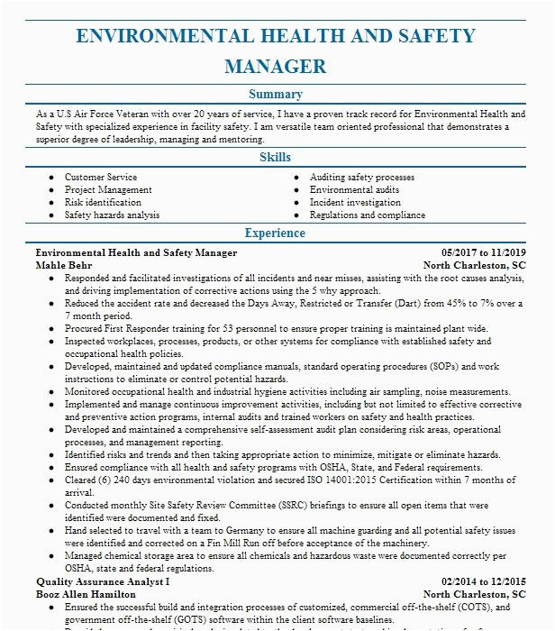environmental health and safety manager 2d7d33a d15a f e733