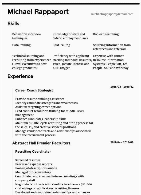 hr generalist resume sample