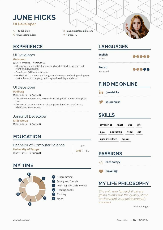 Sample Resume for Experienced Ui Developer Ui Developer Resume Samples and Writing Guide for 2020