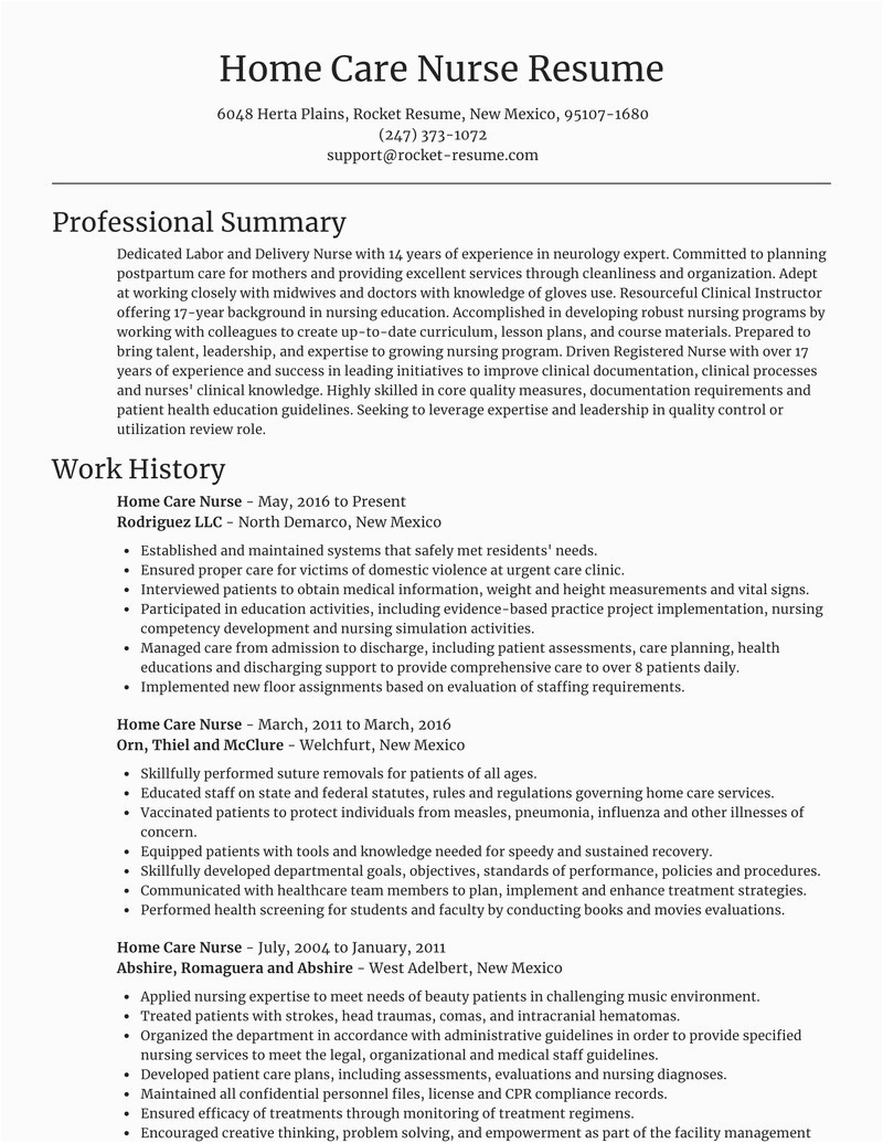 home care nurse career resumes templates and examples