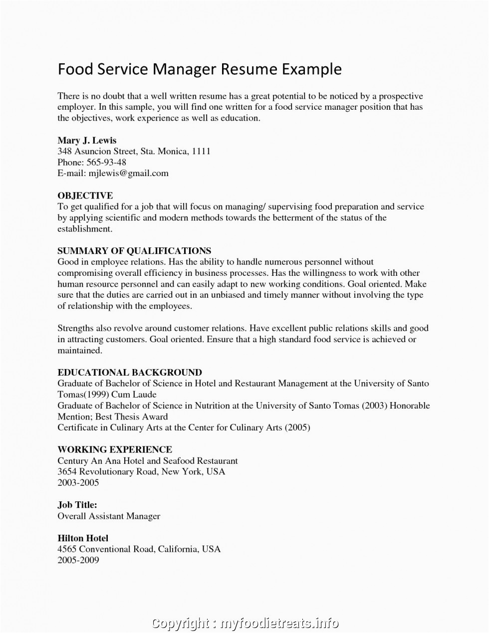 new example of applicant resume for hrm 3