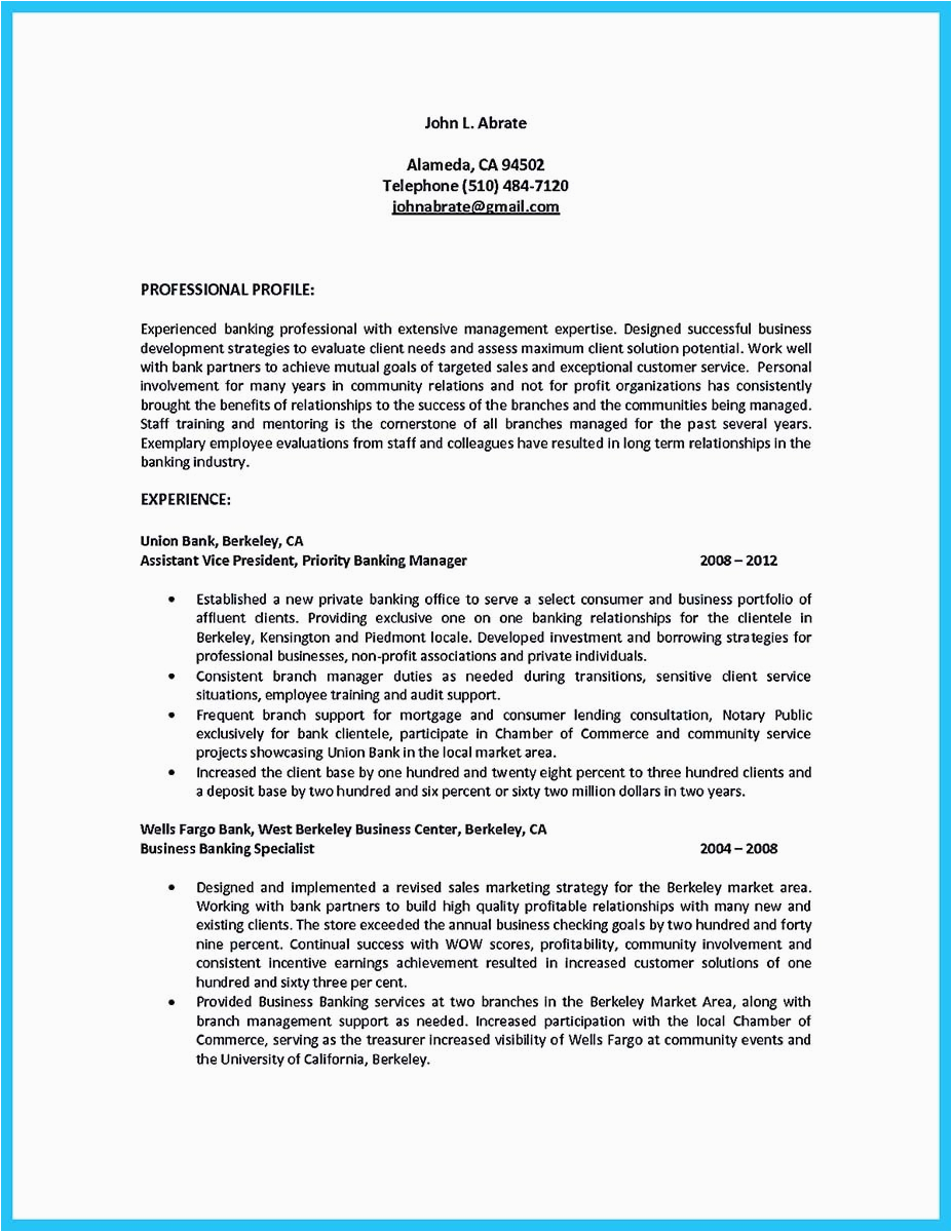 Sample Resume for Retired Bank Manager Starting Successful Career From A Great Bank Manager Resume