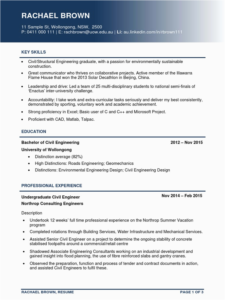 Sample Resume for Retired Civil Engineer Senior Civil Engineer Resume Pdf Volunteering