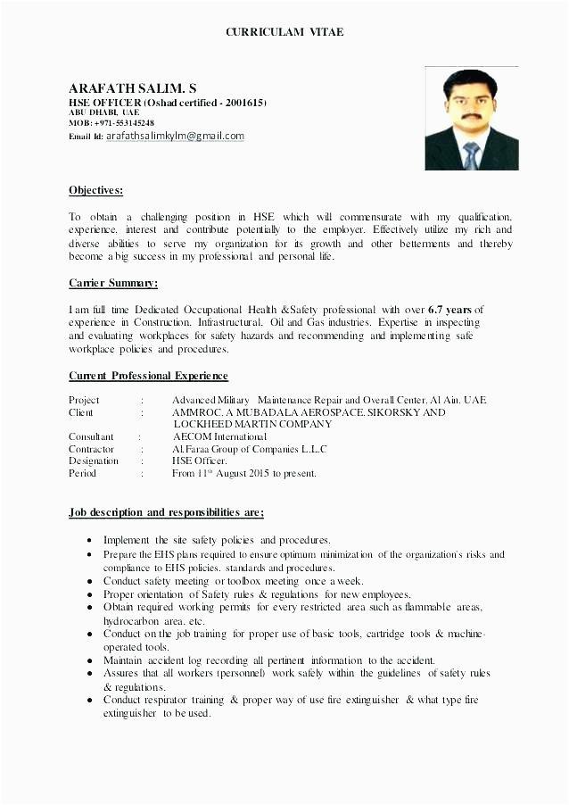 Sample Resume for Safety Officer Job Oil and Gas Safety Ficer Job Description Job Retro