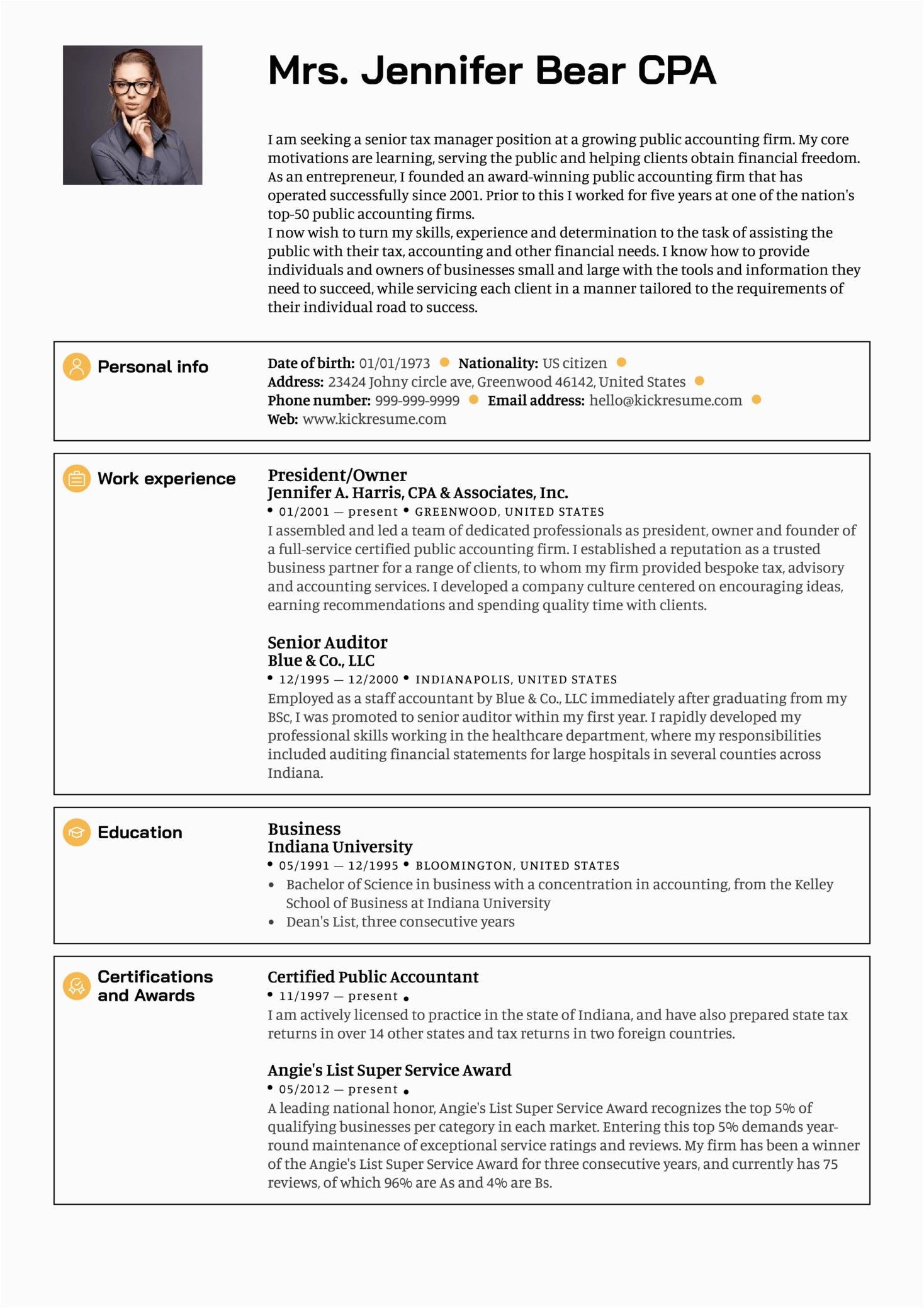 Sample Resume for Senior Management Position Senior Manager Resume Sample