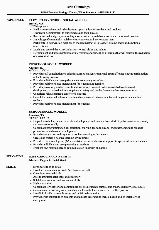 Sample Resume for social Work Student social Work Resume Sample Writing Tips Resume Panion