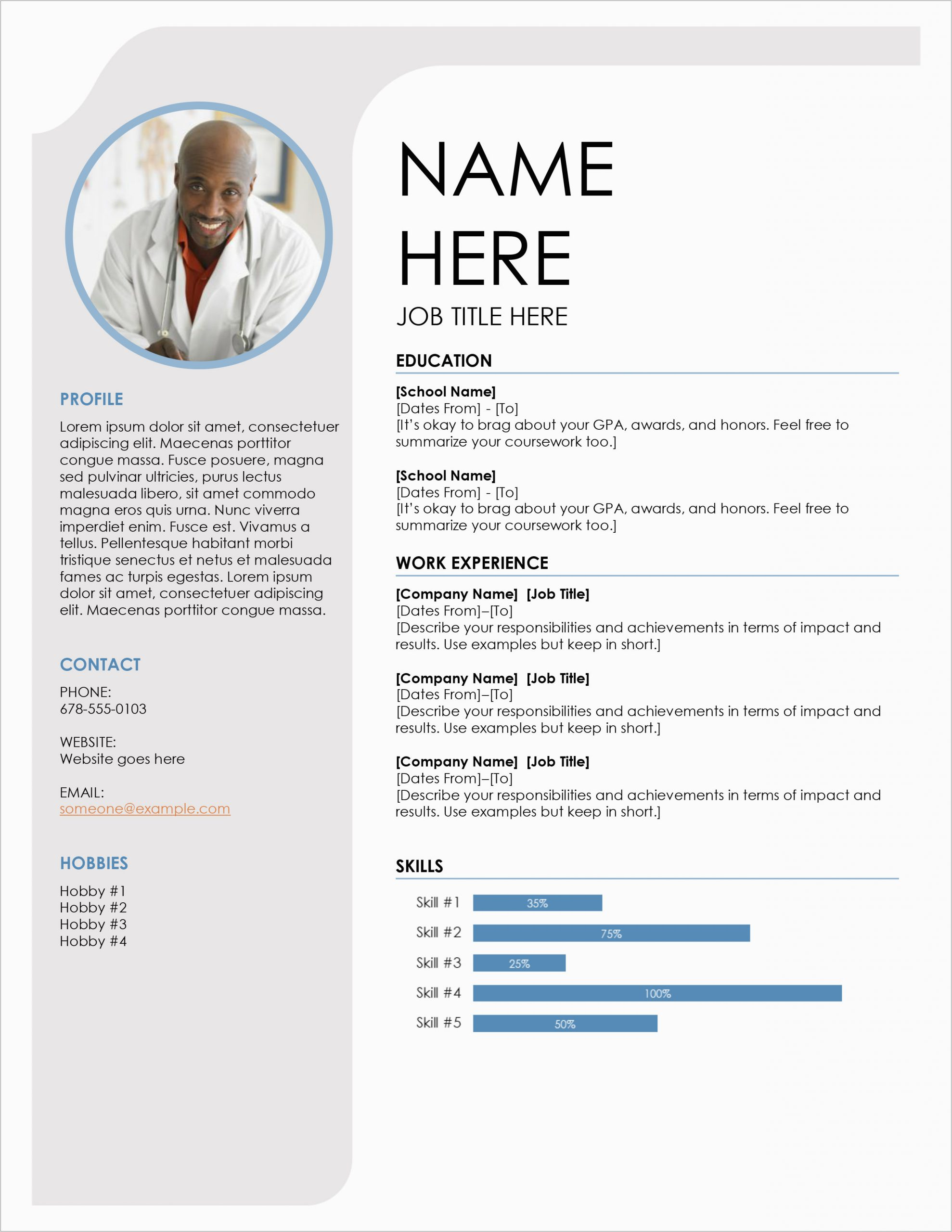 word document resume template free 50