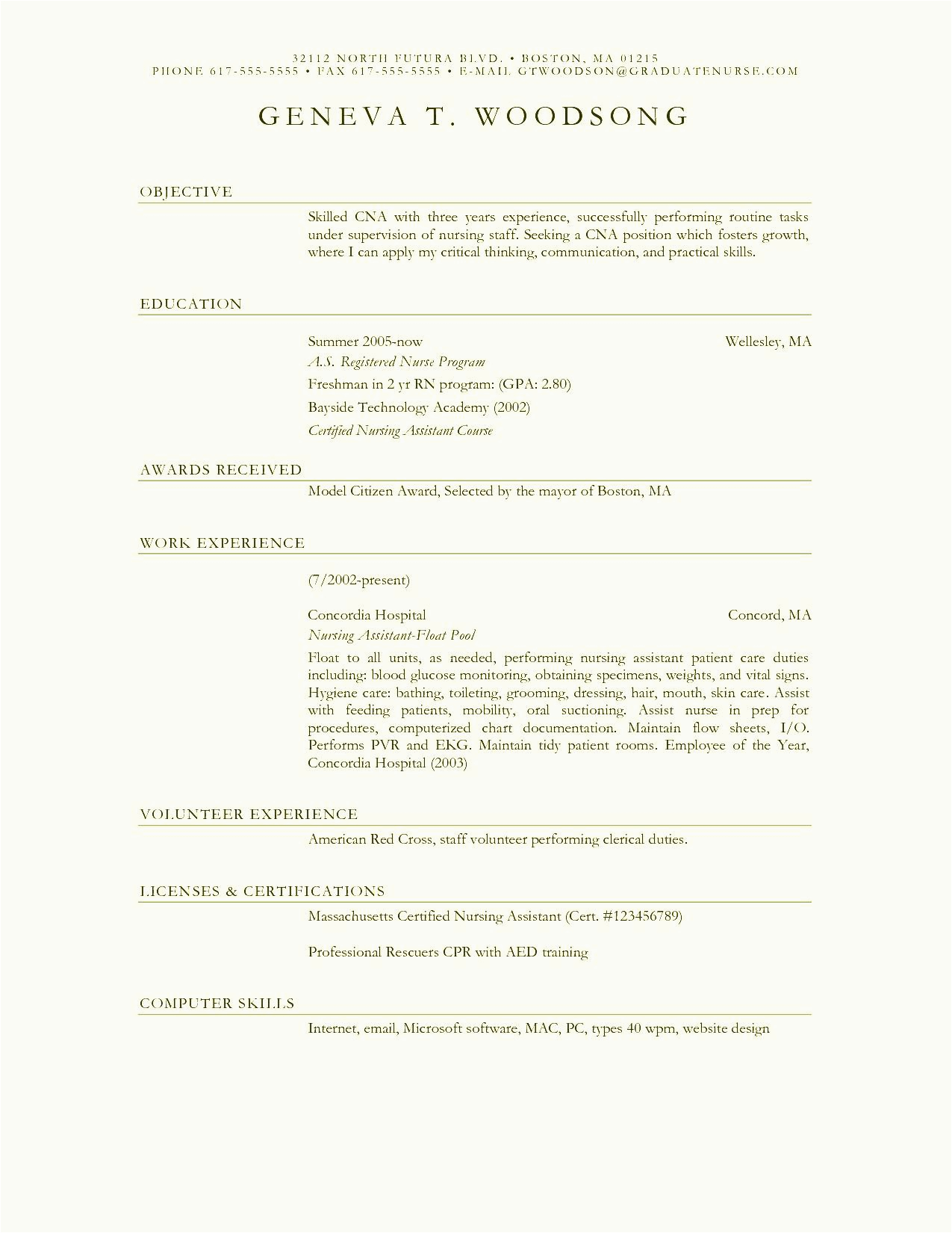 12 13 resume examples for nurses assistant