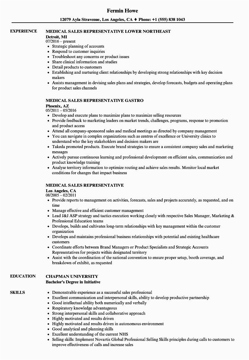 Sample Resume Objectives for Sales Representative 23 Sales Rep Resume Example In 2020