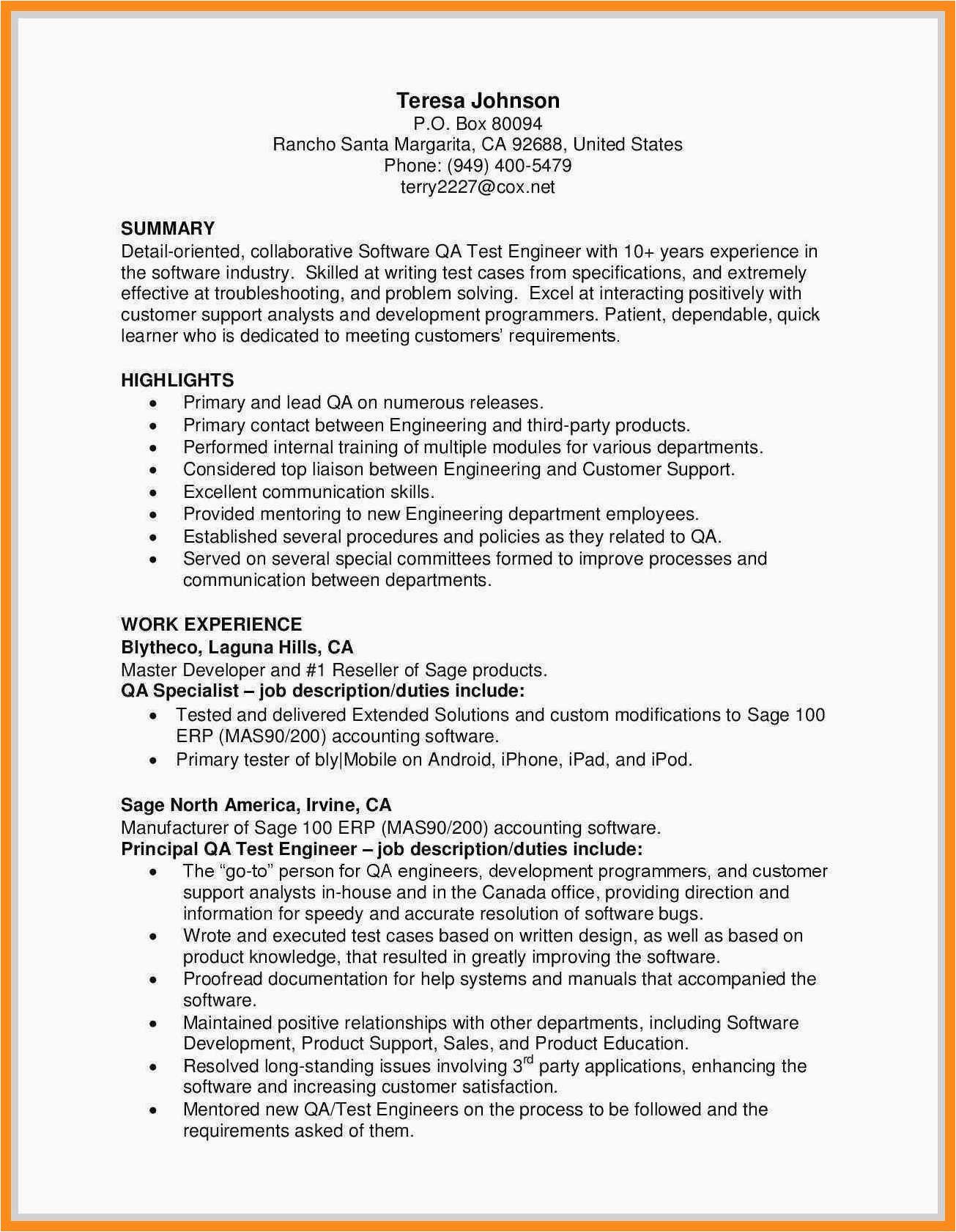 12 13 qa tester sample resume