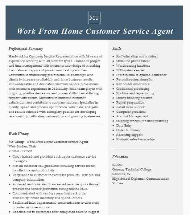 work from home customer service agent cfeebe4365b8113a5c9b36d4cb