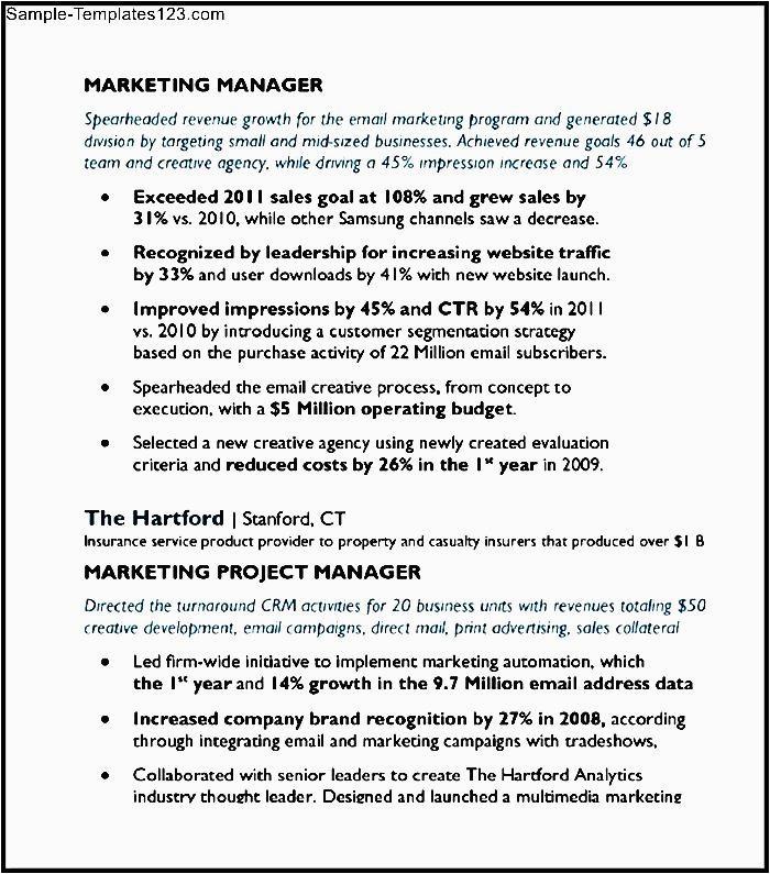 digital media email marketing manager resume sample pdf