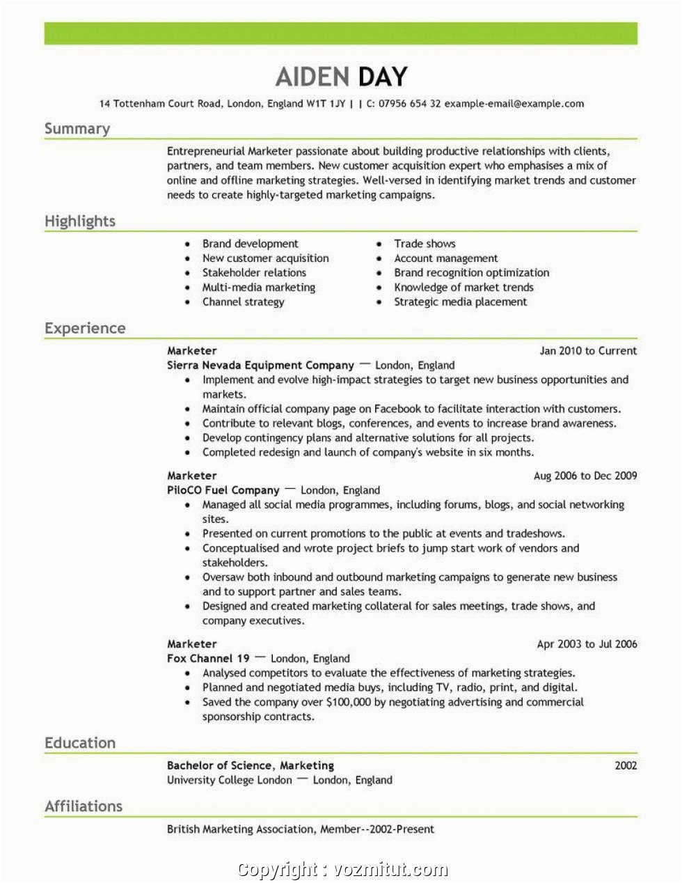 newest digital marketing fresher resume