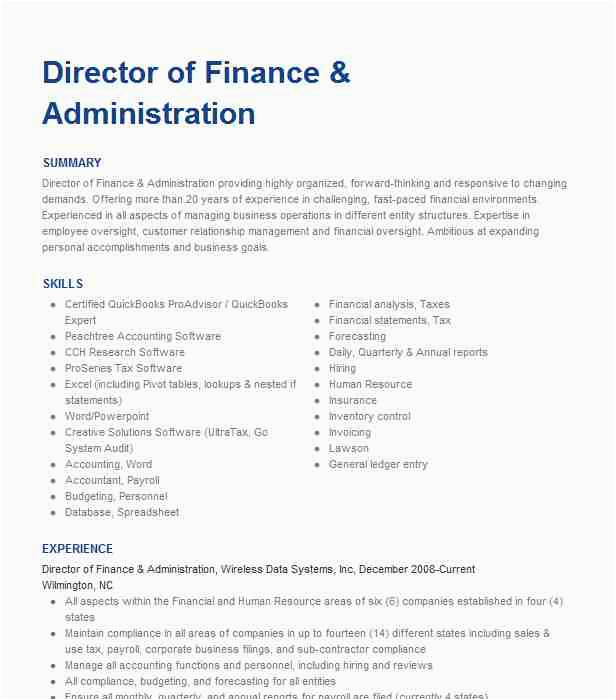 director of finance and administration 9b9fb0a86c5b e2cf d7018f