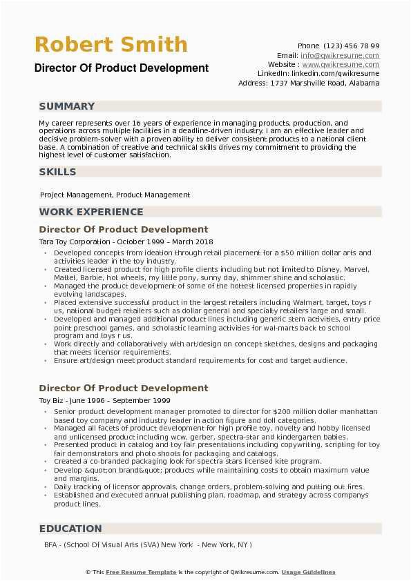 Director Of Product Development Resume Sample Director Of Product Development Resume Samples