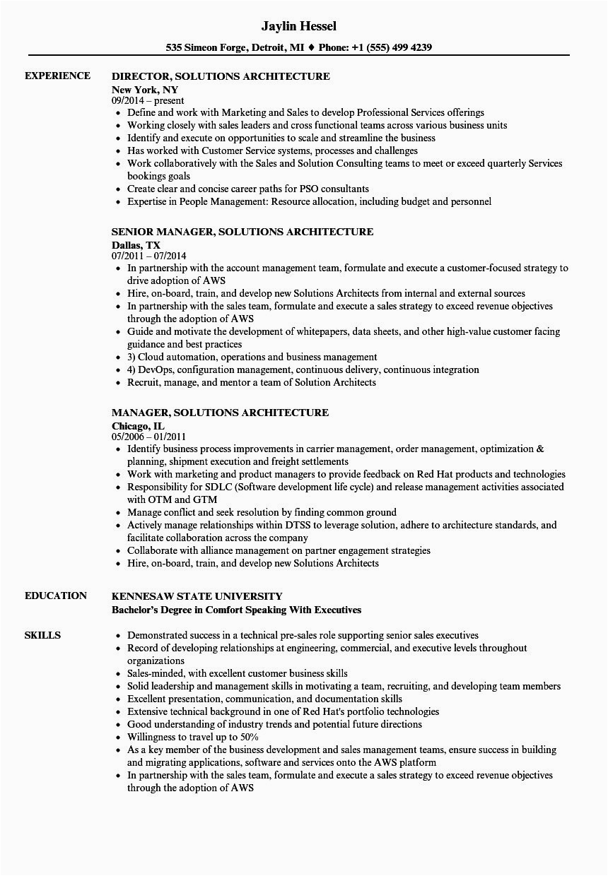 aws sample resume for 3 years experience