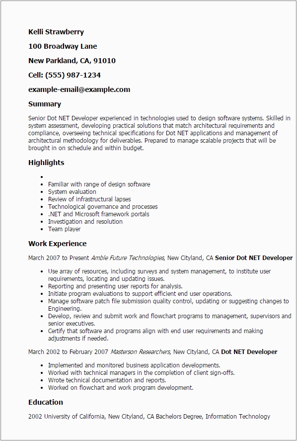 Dot Net Resumes 3 Years Experience Sample Resume Template for 3 Years Experience 3 Gigantic