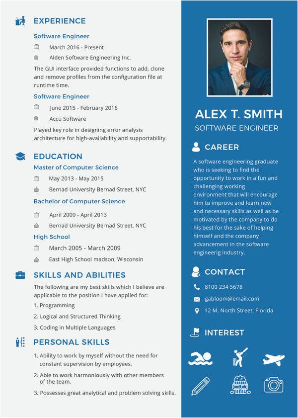 professional fresher resume template