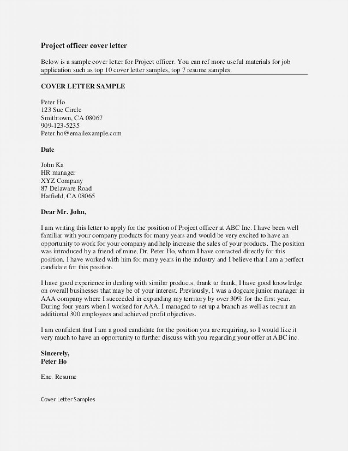 10 11 strong cover letter examples