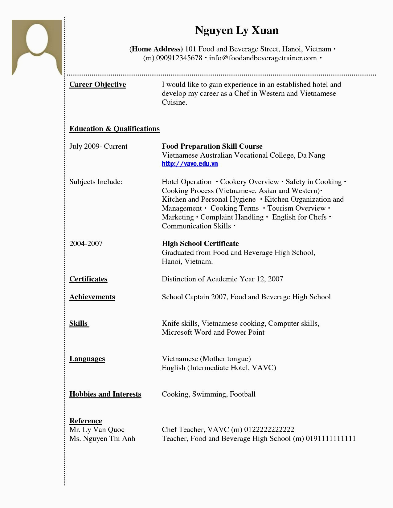 it student resume sample no experience