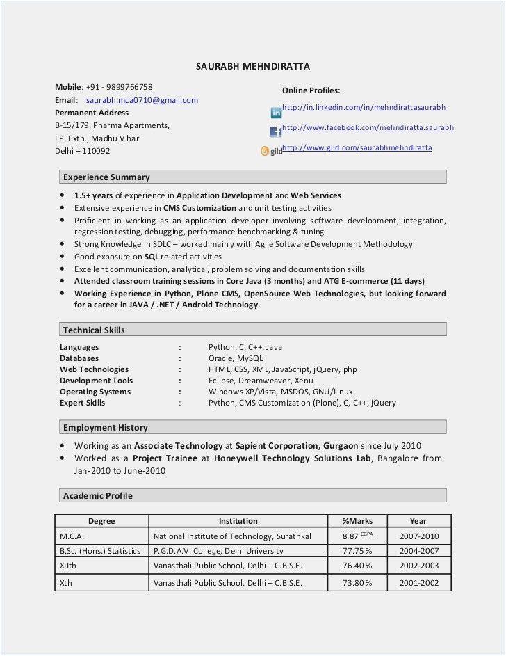 Java Developer Resume 8 Years Experience Sample Resume format 8 Year Experience 2 Resume format