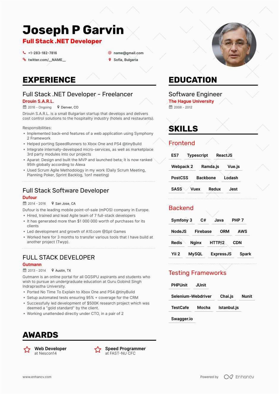 java full stack developer resume sample
