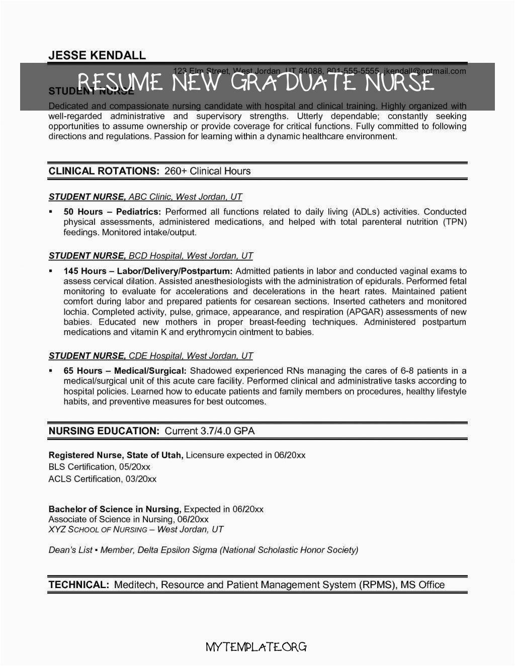 resume new graduate nurse of new grad rn resume luxury recent graduate resume template salumguilher