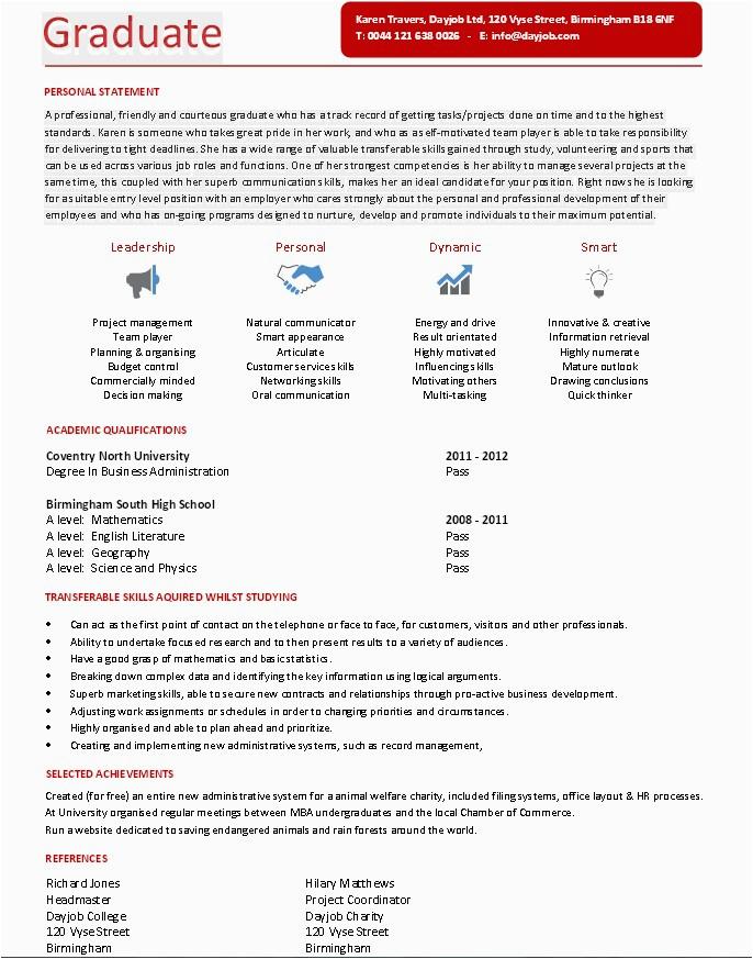 Resume Sample for Fresh Graduate Pdf Resume Sample for Fresh Graduates Pdf