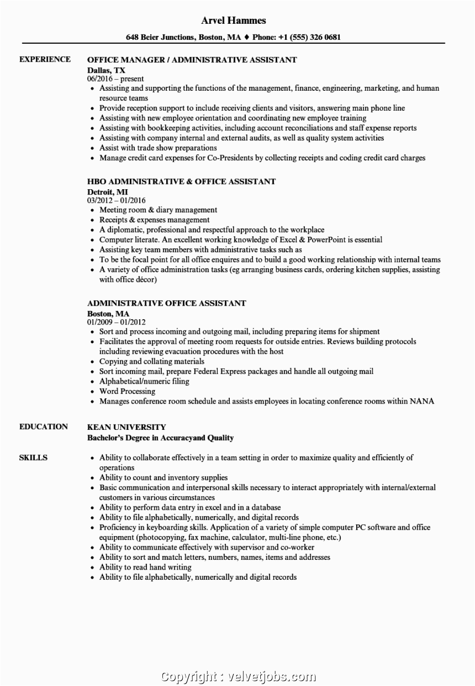 styles office assistant resume sample