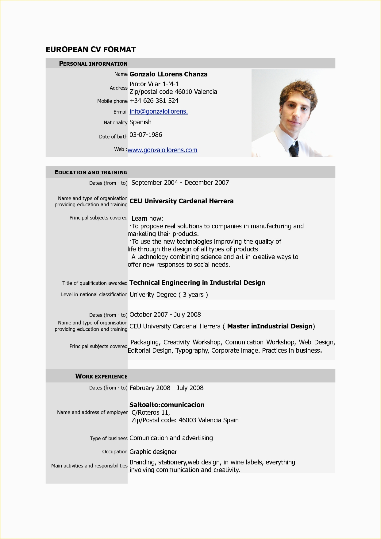 canadian cv format pdf 2758