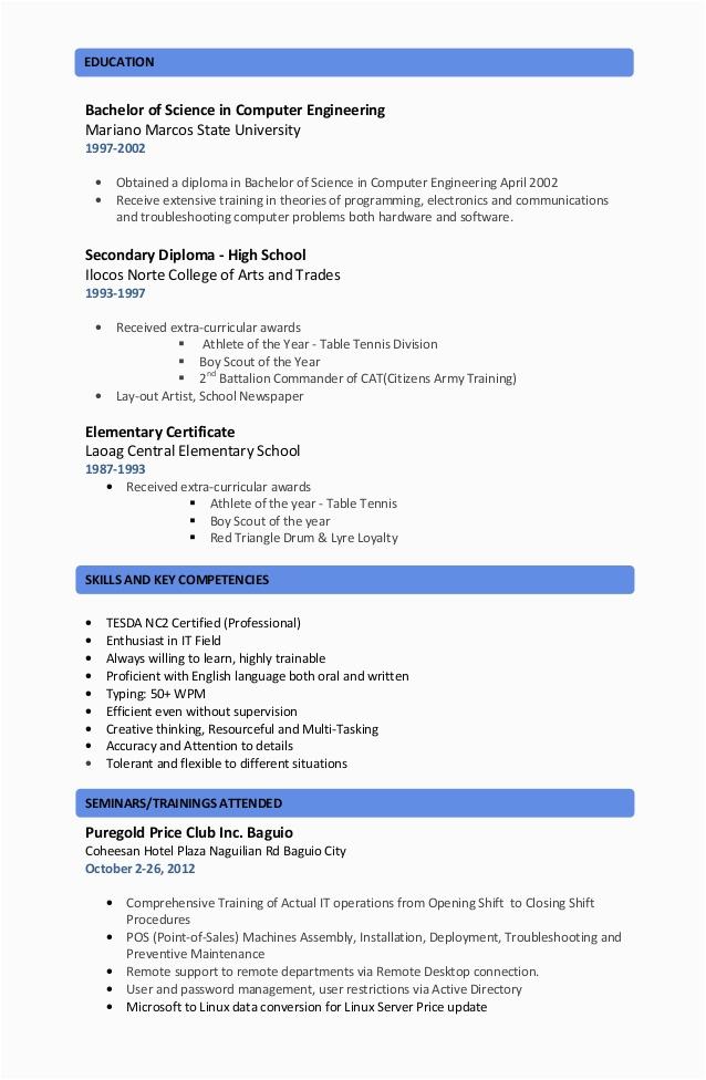 Resume Sample Training and Seminars attended Resume Seminars attended
