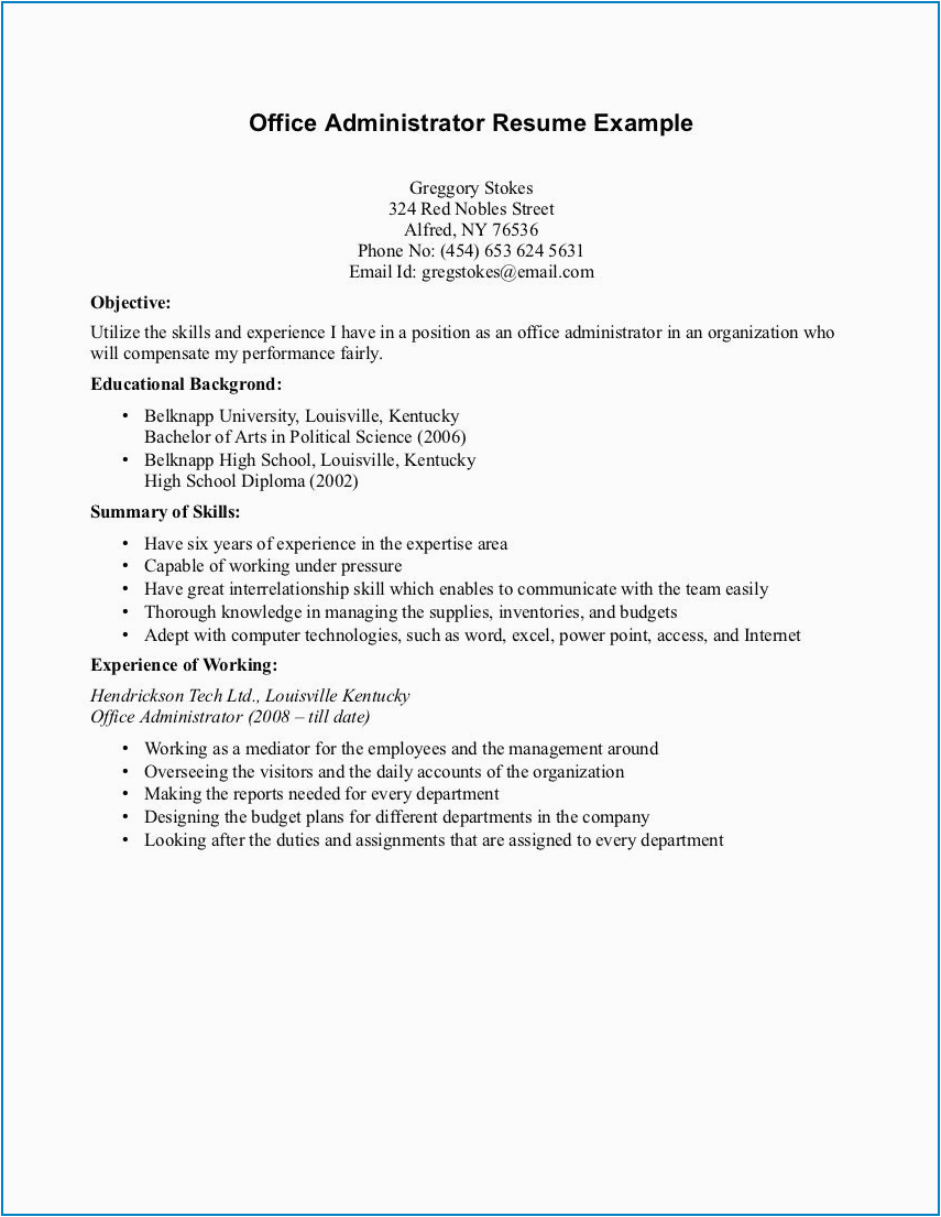 student resume with no experience examples