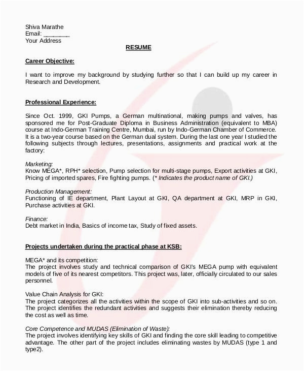 indian college student resume samples