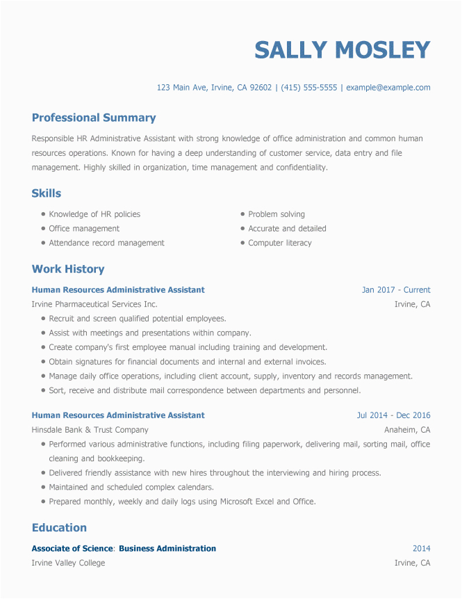 examples of well written resumes