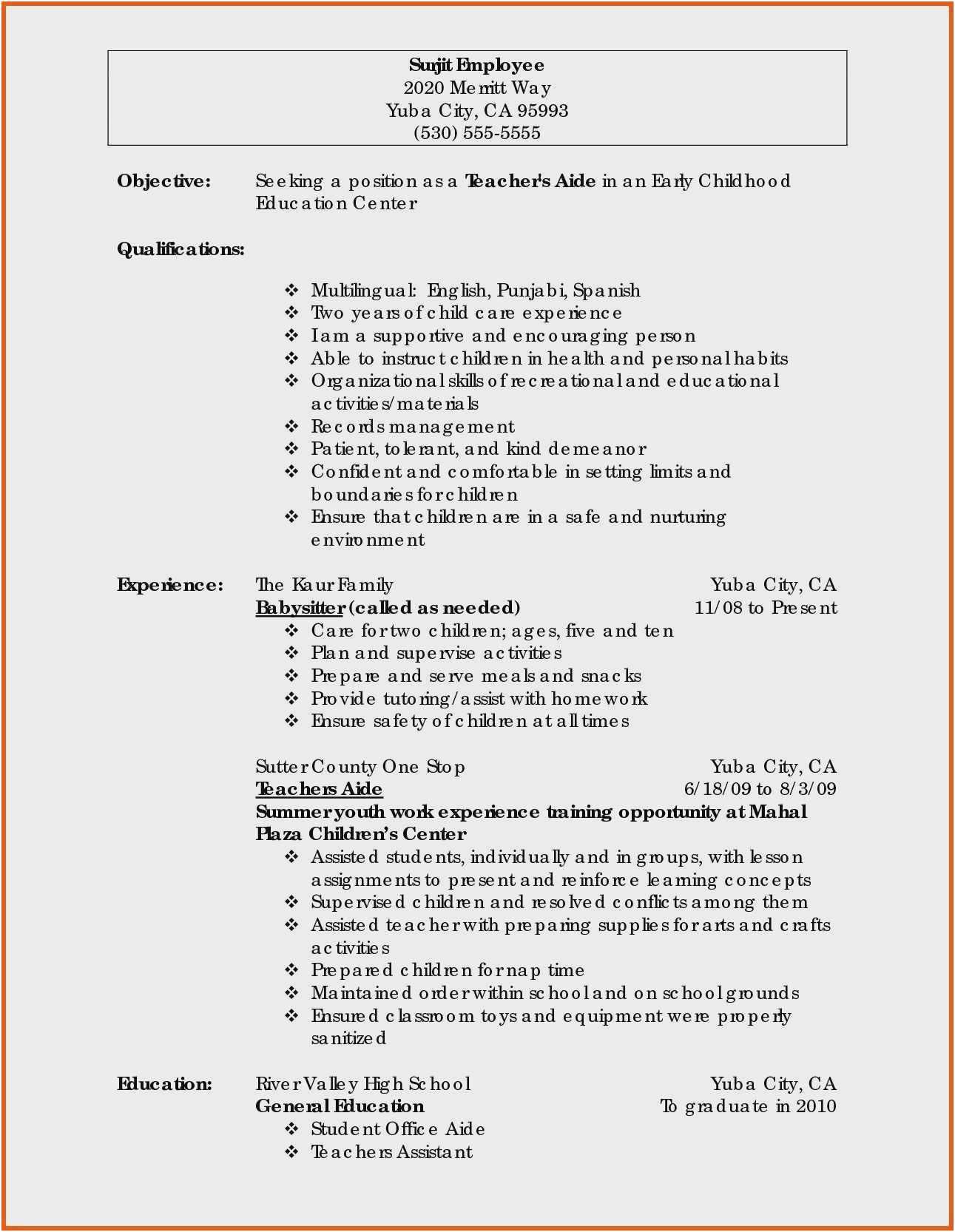how make a resume