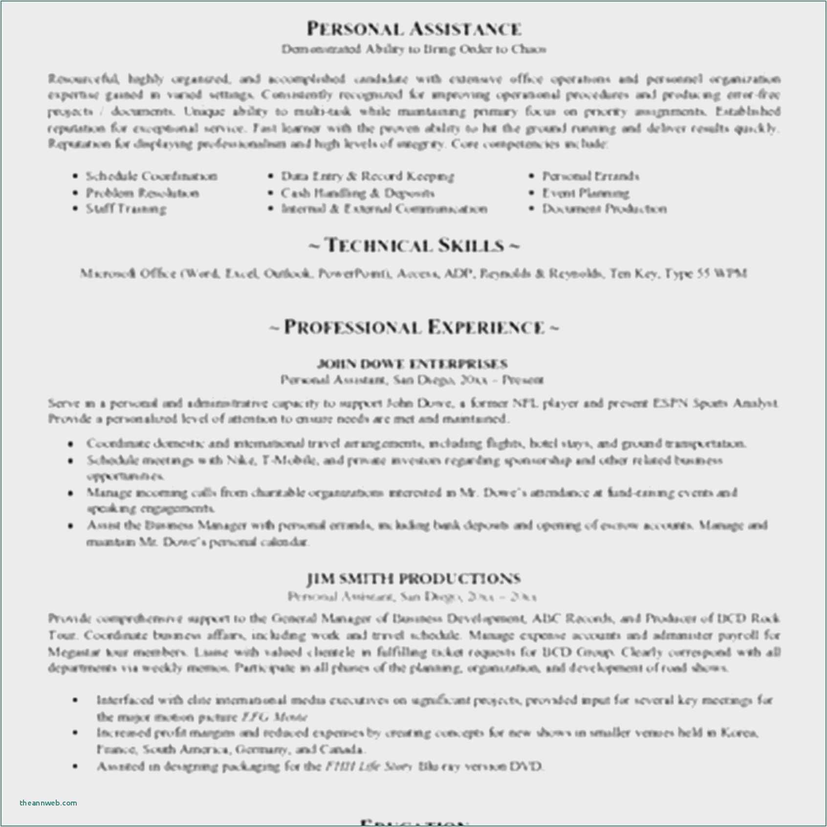 personal profile template