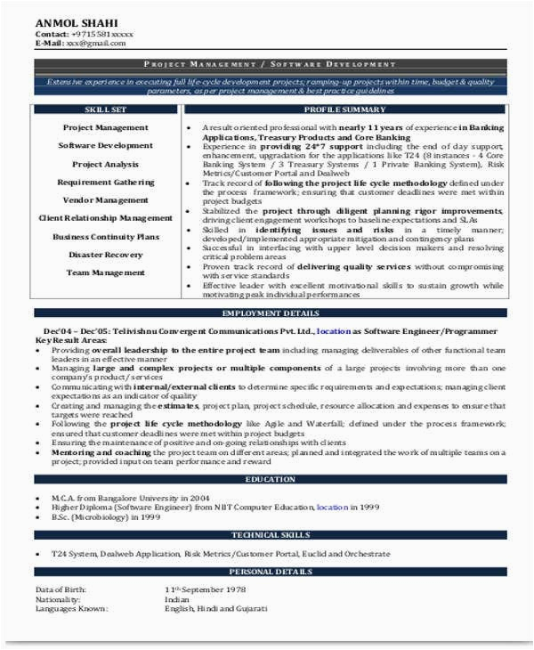resume for it experienced
