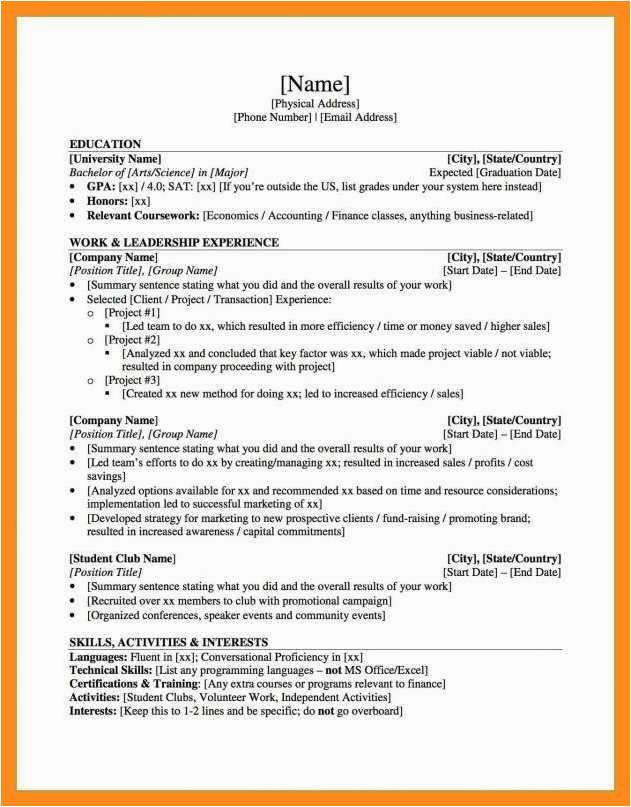 11 12 resume graduate school sample